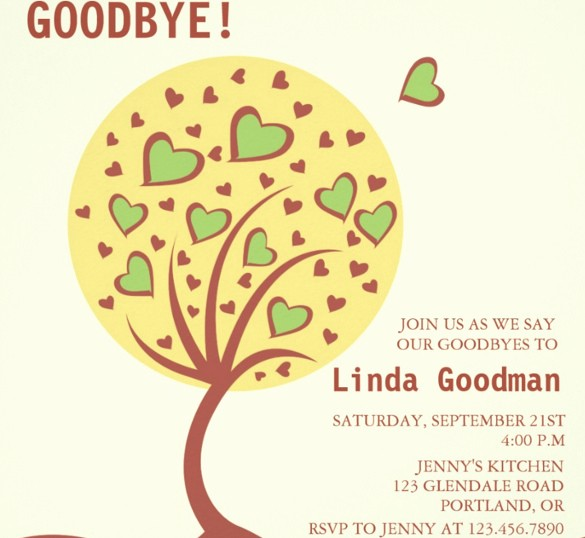Farewell Party Flyer Template Free Unique Farewell Party Invitation Template 29 Free Psd format