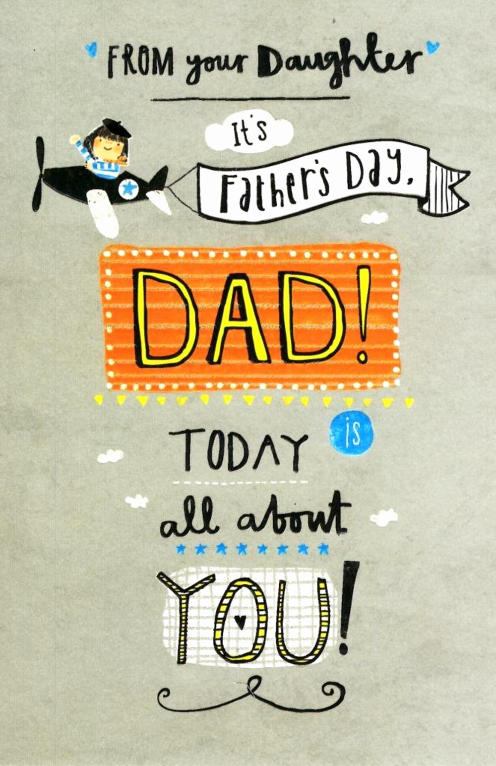 Fathers Day Card From Daughters Awesome Dad From Your Daughter Happy Father S Day Card