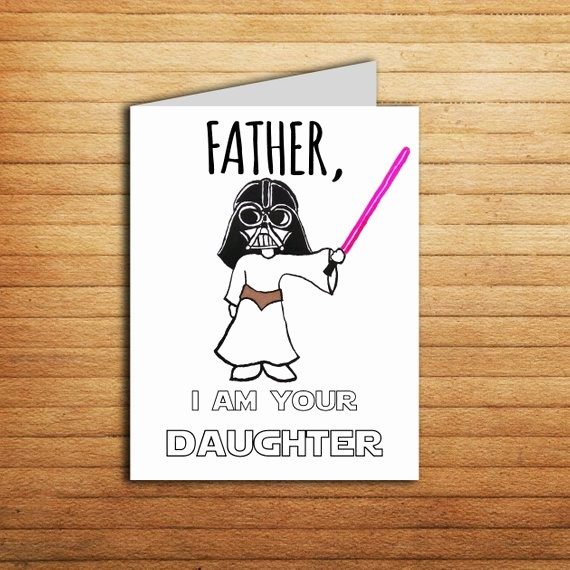 Fathers Day Card From Daughters Awesome Star Wars Card Fathers Day Card for Dad T From Daughter