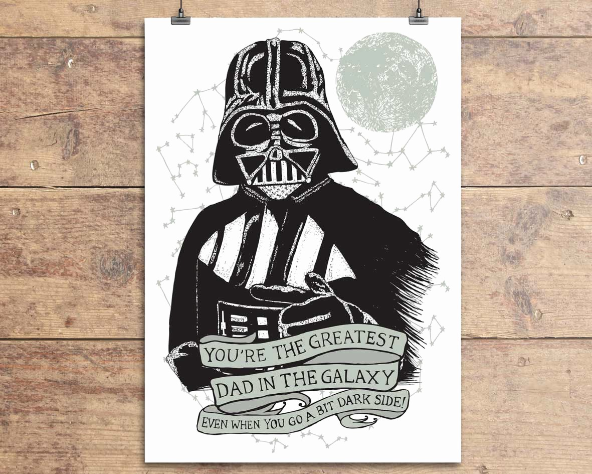 Fathers Day Card From Daughters Awesome Star Wars Darth Vader Funny Father S Day Greeting Card