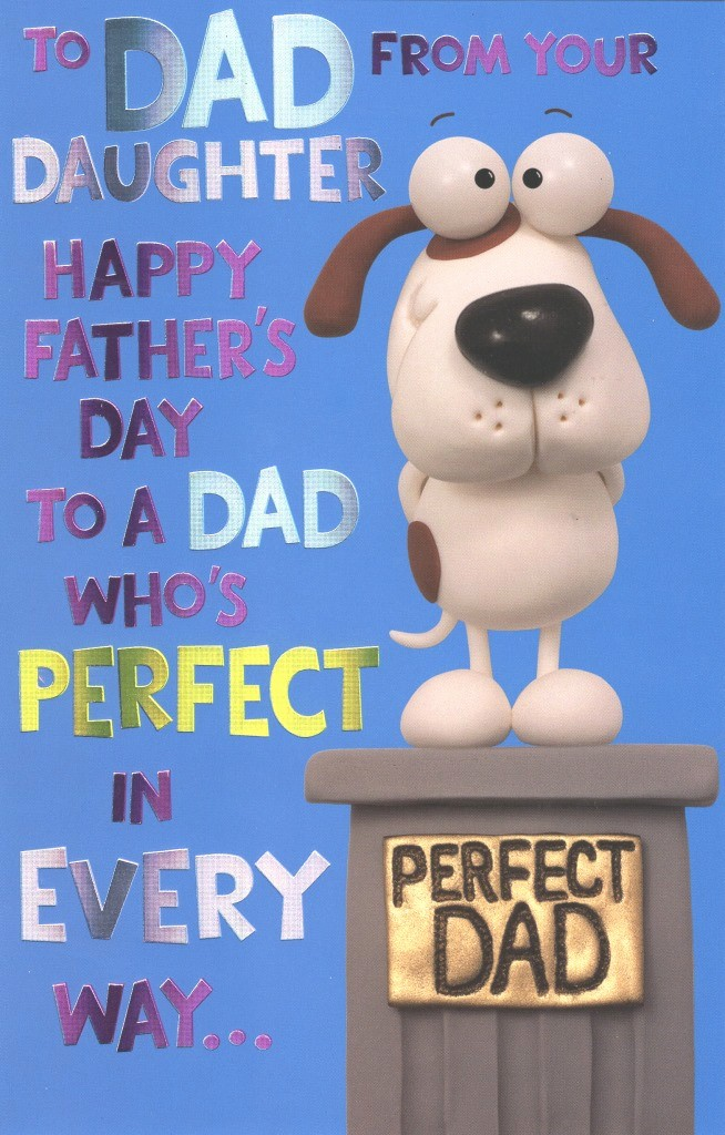 Fathers Day Card From Daughters Beautiful to Dad From Daughter Happy Father S Day Card