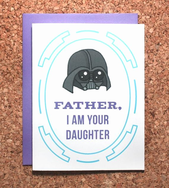Fathers Day Card From Daughters Elegant Star Wars Father S Day Card Darth Vader Daughter I Am