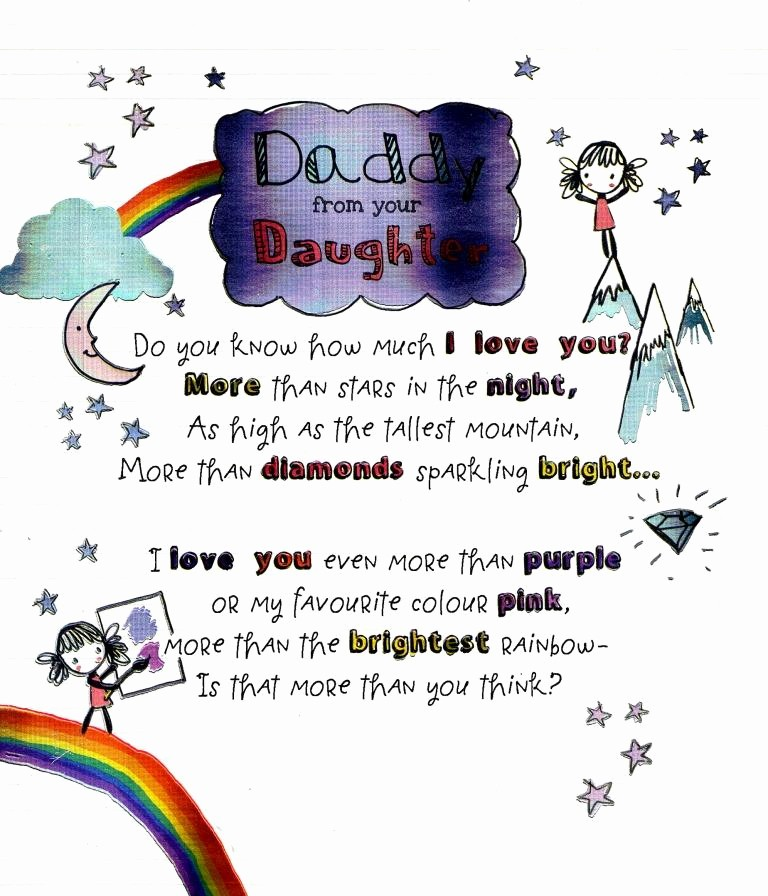 Fathers Day Card From Daughters Elegant to Daddy From Your Daughter Father S Day Card