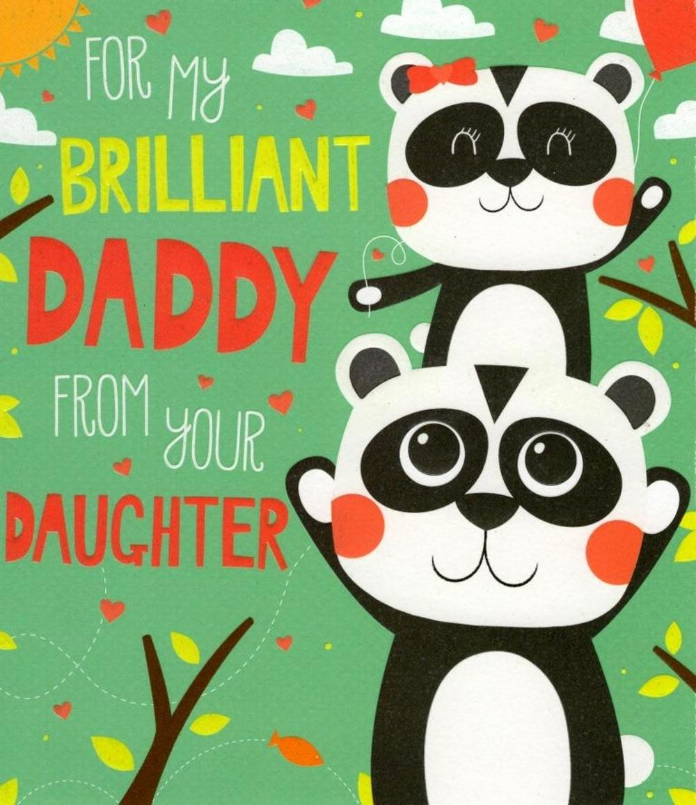 Fathers Day Card From Daughters Lovely Daddy From Daughter Father S Day Card Cards