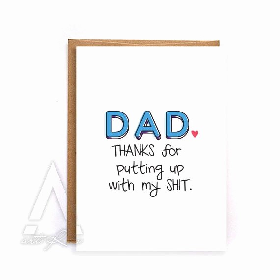 Fathers Day Card From Daughters Lovely Fathers Day Card Funny Fathers Day Card From Daughter