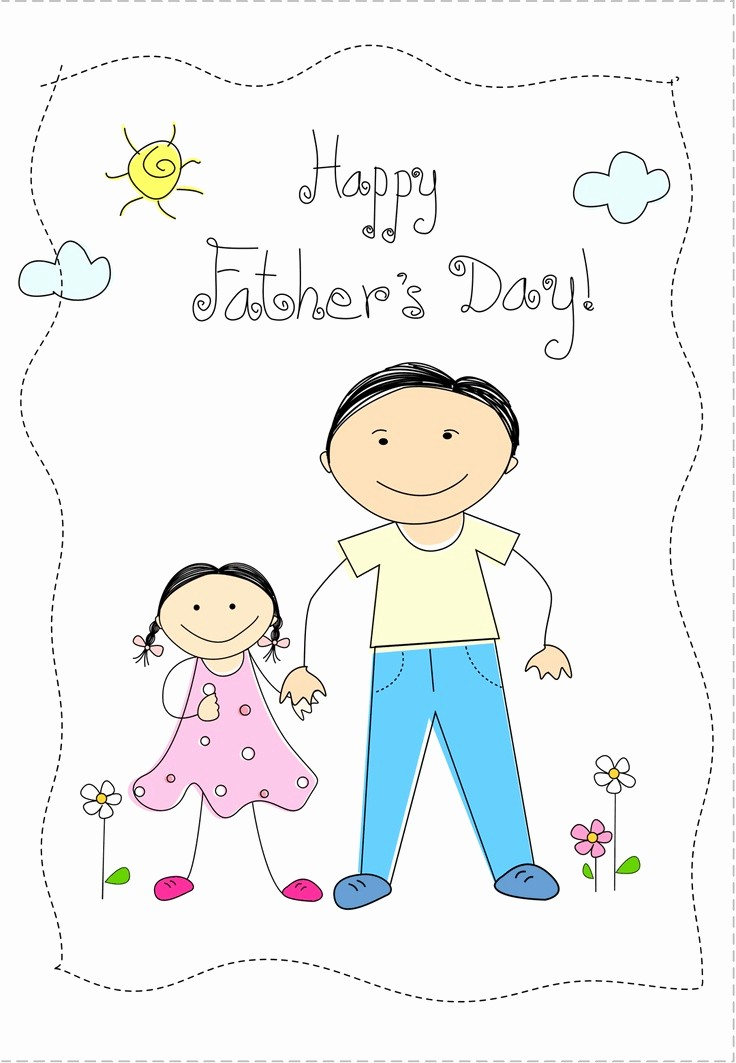 Fathers Day Card From Daughters Luxury Free Printable From Daughter Greeting Card Fathersday