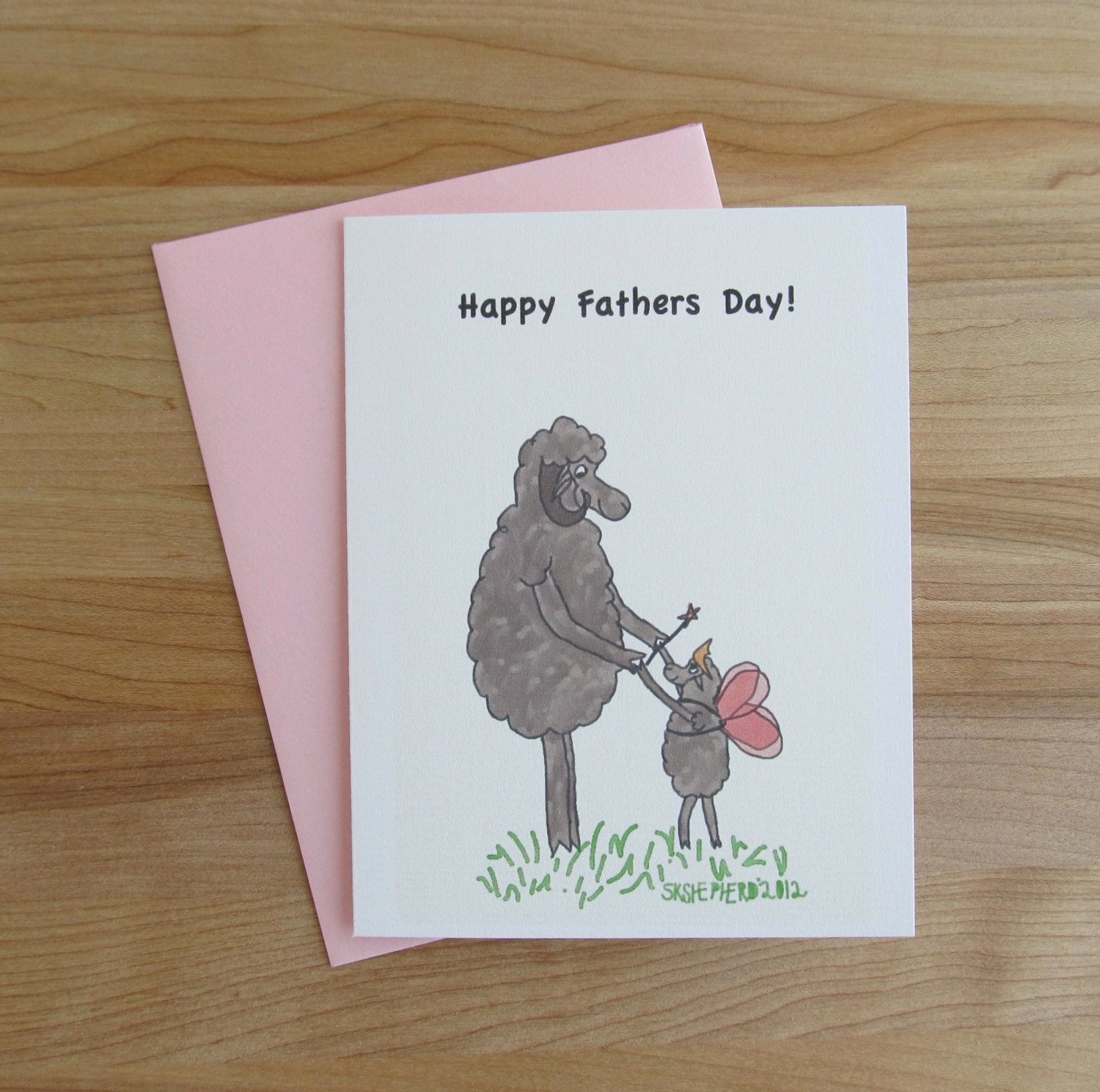 Fathers Day Card From Daughters New Father & Daughter Card Happy Fathers Day White or