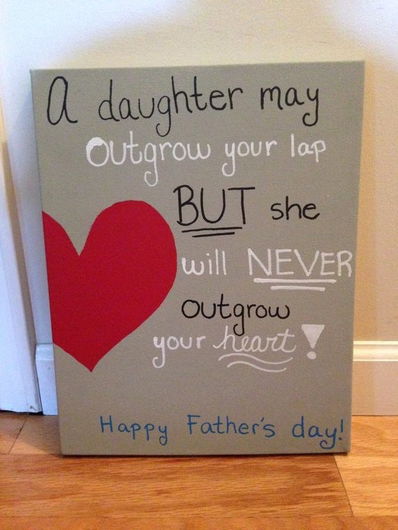 Fathers Day Card From Daughters Unique Items Similar to Father S Day Canvas On Etsy