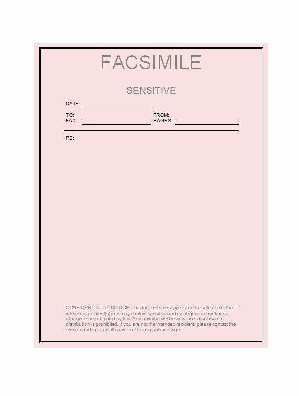 Fax Cover Sheet Download Free Elegant 40 Printable Fax Cover Sheet Templates Free Template