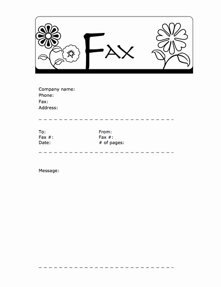 Fax Cover Sheet Download Free Lovely 9 Best Of Fun Fax Cover Sheet Template Generic