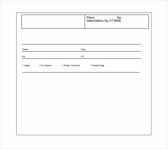 Fax Cover Sheet Download Free Unique 12 Word Fax Cover Sheet Templates Free Download