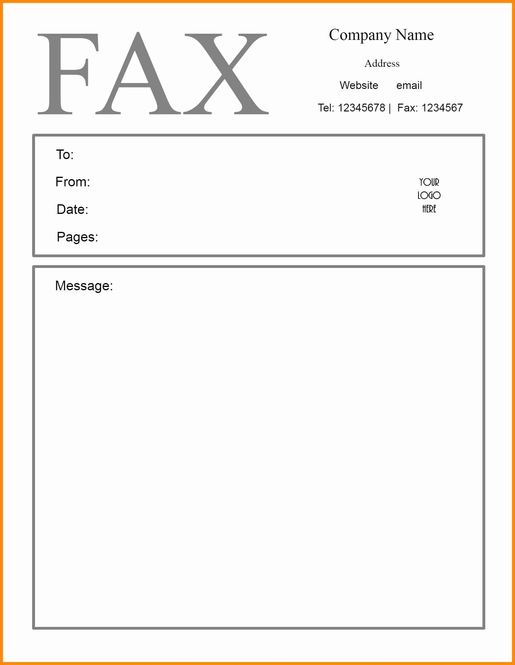 Fax Cover Sheet for Mac Awesome Fax Cover Sheet for Pages Mac
