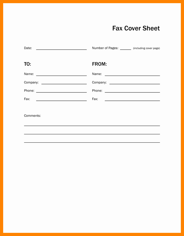 Fax Cover Sheet for Mac Lovely Fax Cover Sheet Free for Mac