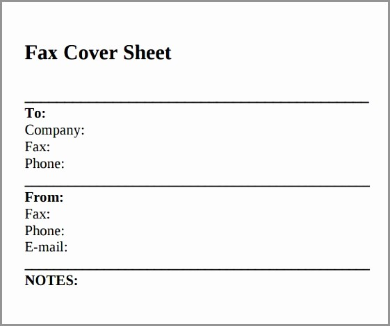 Fax Cover Sheet for Mac Luxury Basic Black and White Fax Cover Sheet • Iwork Munity