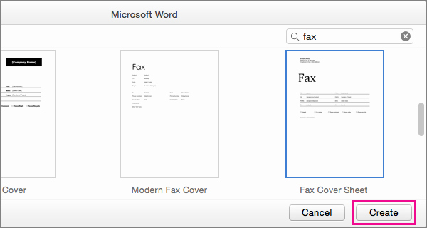 Fax Cover Sheet For Mac Luxury Create A In Word 2016