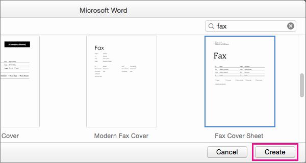 Fax Cover Sheet for Mac Luxury Create A Fax Cover Sheet In Word 2016 for Mac Word for Mac