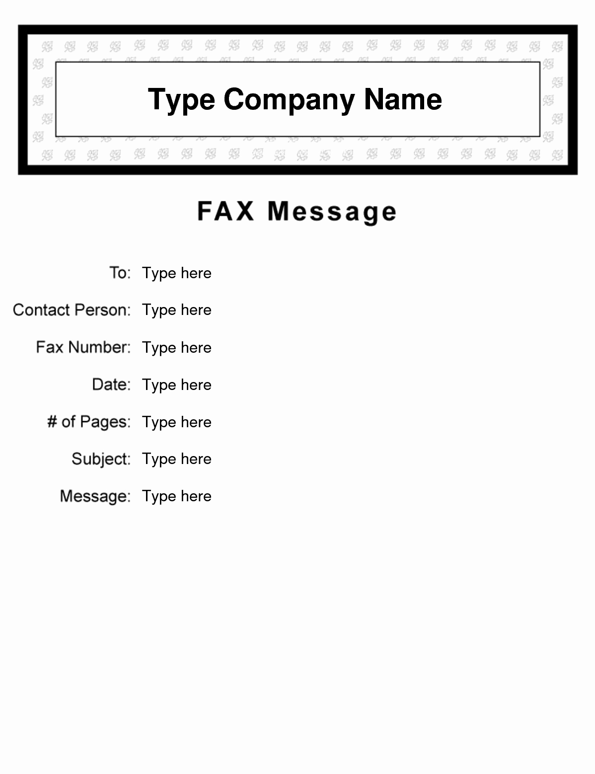 Fax Cover Sheet for Mac Luxury Fax Cover Letter Template Word Mac Marchigianadoc