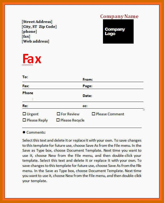 Fax Cover Sheet for Mac Unique 4 5 Fax Cover Sheet Example