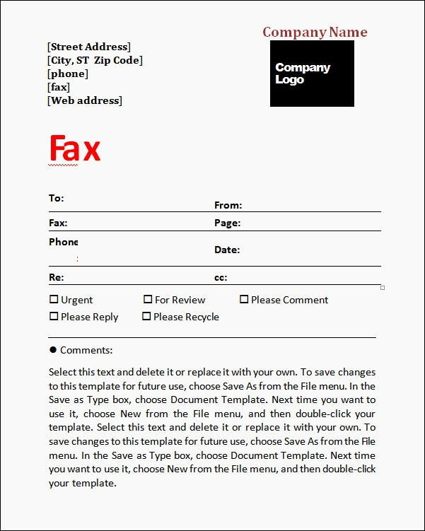 Fax Cover Sheet for Mac Unique Mac Word Fax Cover Sheet Template