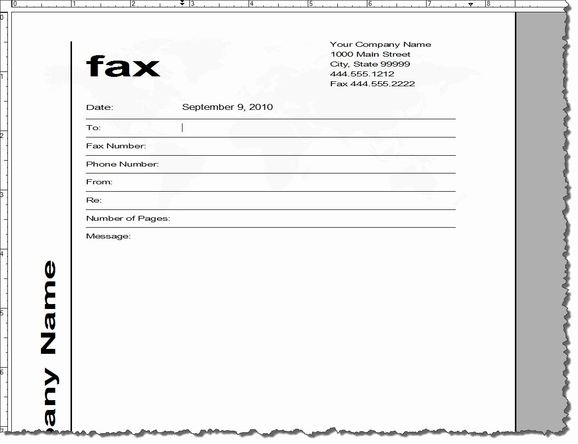 post template fax cover sheet 2462
