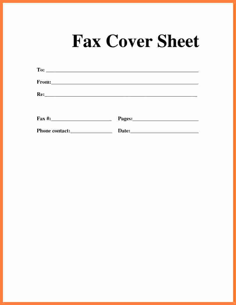 Fax Cover Sheet for Word Inspirational Fax Cover Sheet Printable