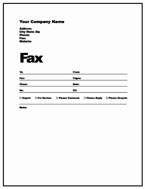 Fax Cover Sheet for Word Lovely Fax Cover Letter Pdf