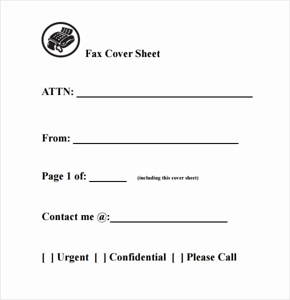 Fax Cover Sheet for Word Luxury 10 Fax Cover Sheet Templates Word Excel Pdf formats