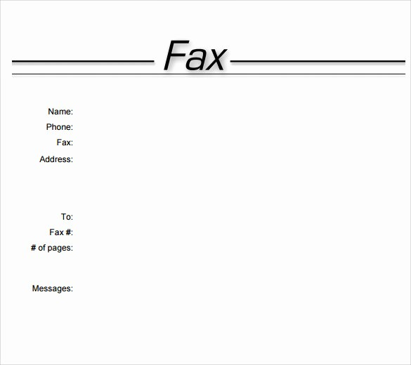 Fax Cover Sheet for Word Luxury 11 Sample Fax Cover Sheets
