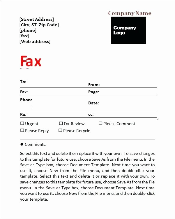 Fax Cover Sheet Microsoft Office Fresh Microsoft Fice 2007 Fax Cover Sheet Template Generic