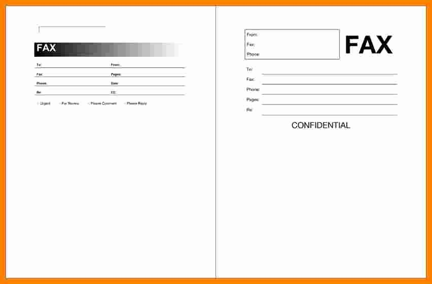 Fax Cover Sheet Microsoft Office New 5 Print Free Fax Cover Sheet