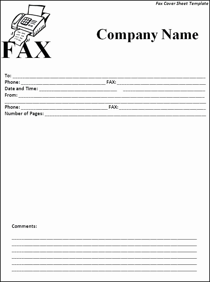 Fax Cover Sheet Microsoft Office New Microsoft Fice Fax Template Fax Cover Letter Template
