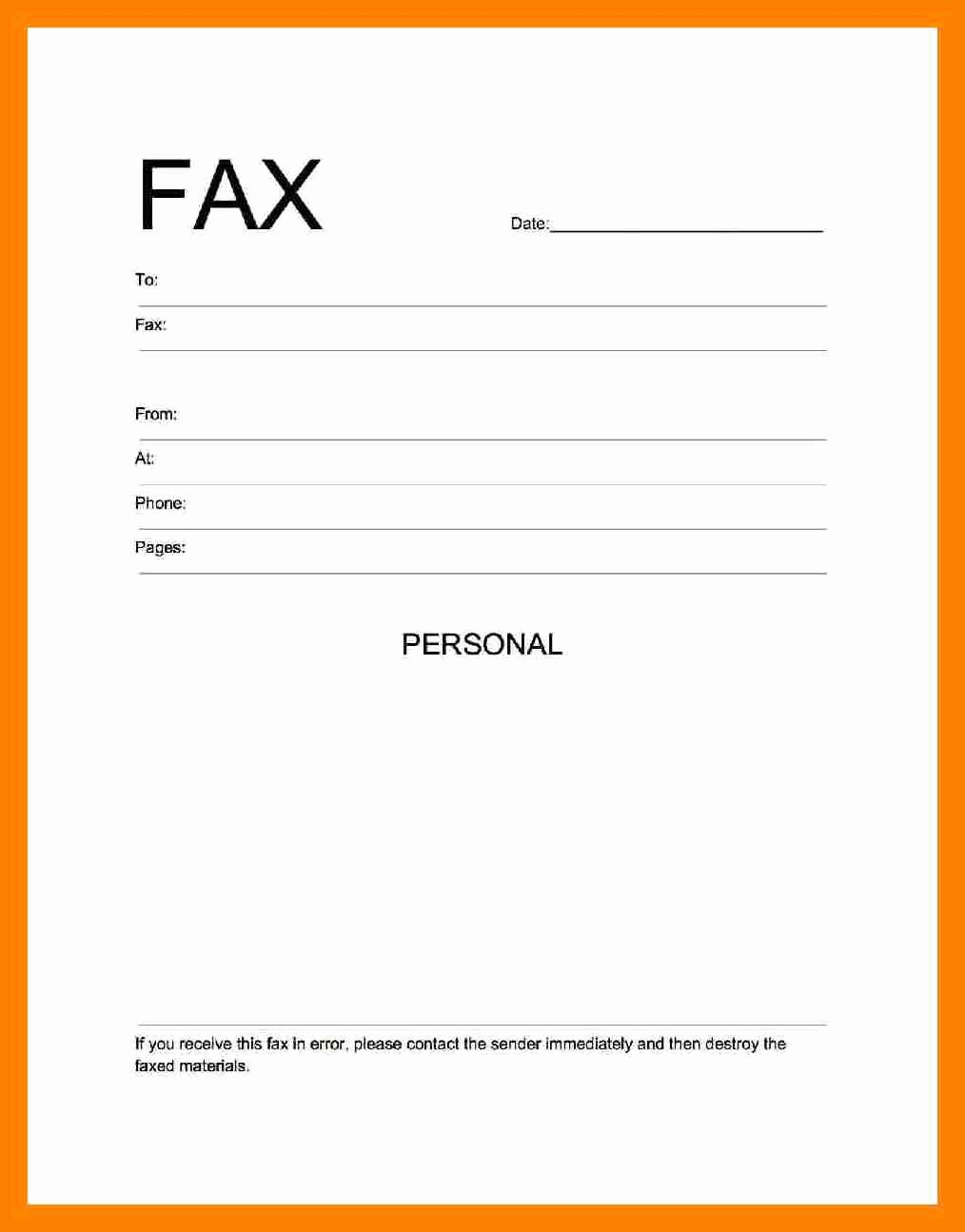Fax Cover Sheet Pdf format Best Of Fax Cover Letter Pdf