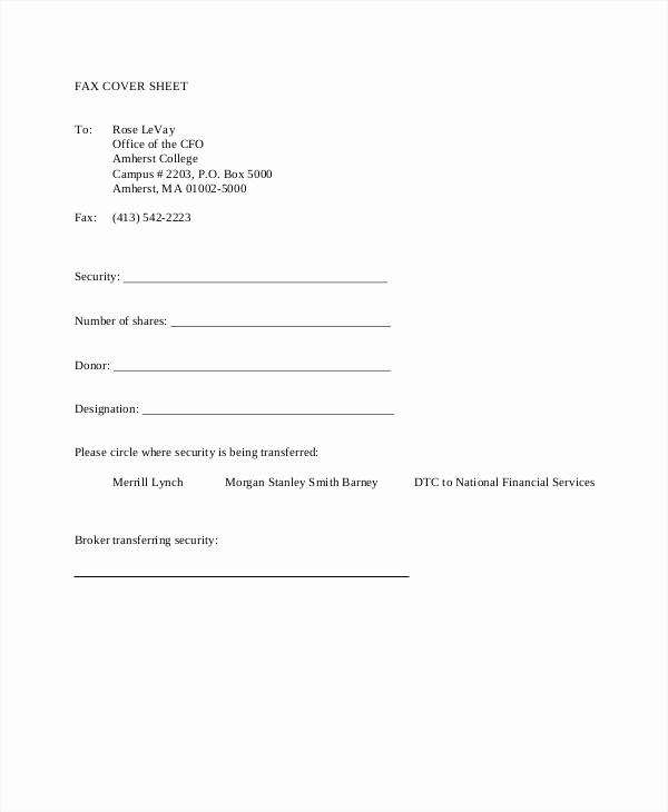 Fax Cover Sheet Pdf format Inspirational Fax Cover Sheet Template 15 Free Word Pdf Documents