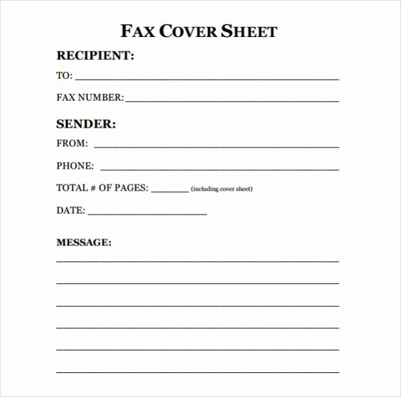 Fax Cover Sheet Pdf format New Blank Fax Cover Letter Pdf