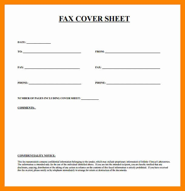 Fax Cover Sheet Pdf Free Beautiful Basic Fax Cover Sheet Template Pdf