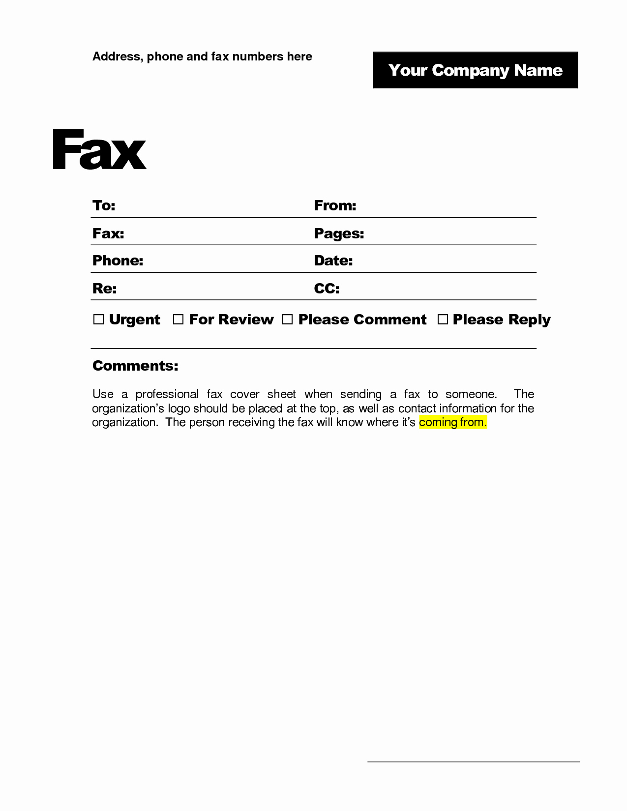 Fax Cover Sheet Pdf Free Luxury 9 Best Of Printable Fax Cover Sheet Printable Fax