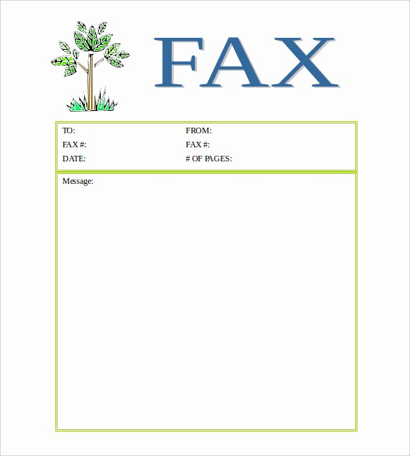 Fax Cover Sheet Printable Free Beautiful 12 Free Fax Cover Sheet Templates – Free Sample Example
