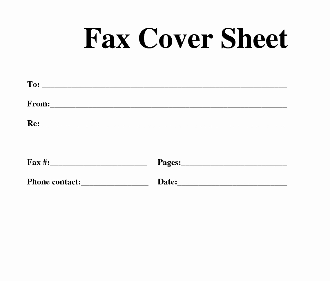 Fax Cover Sheet Printable Free Elegant Free Fax Template