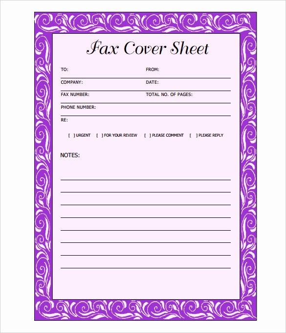 Fax Cover Sheet Printable Free Fresh 12 Cover Sheet Doc Pdf