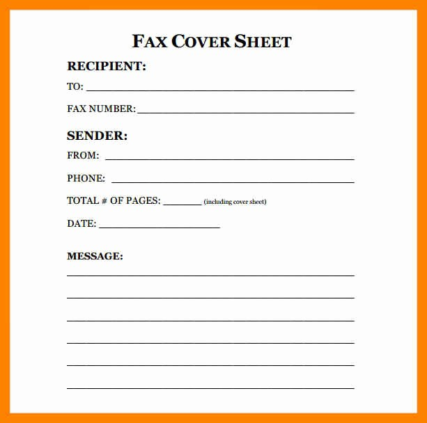 Fax Cover Sheet Printable Free Fresh 12 Free Printable Fax Cover Sheets