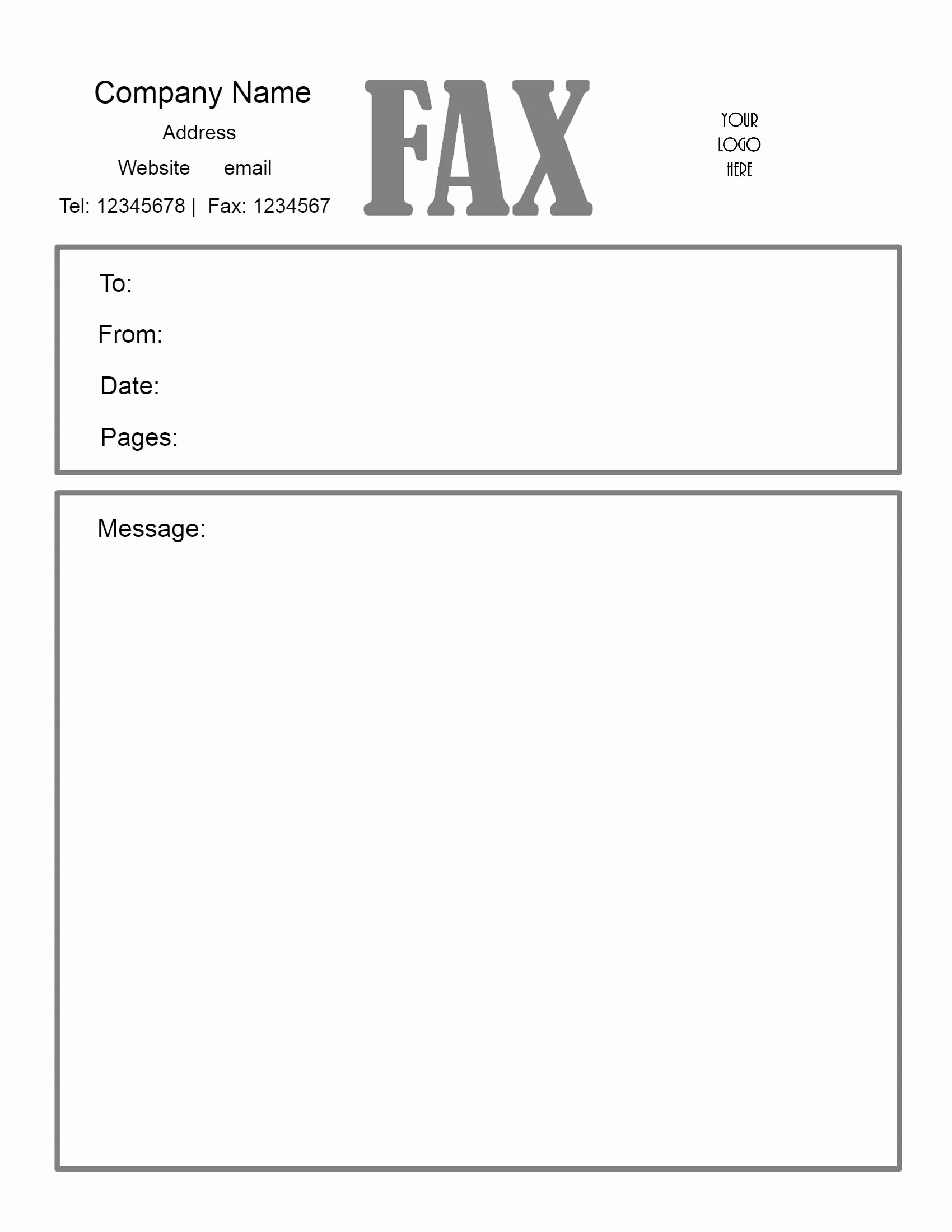 Fax Cover Sheet Printable Free Inspirational Fax Cover Sheet – Download Fax Cover Sheet Fax Cover
