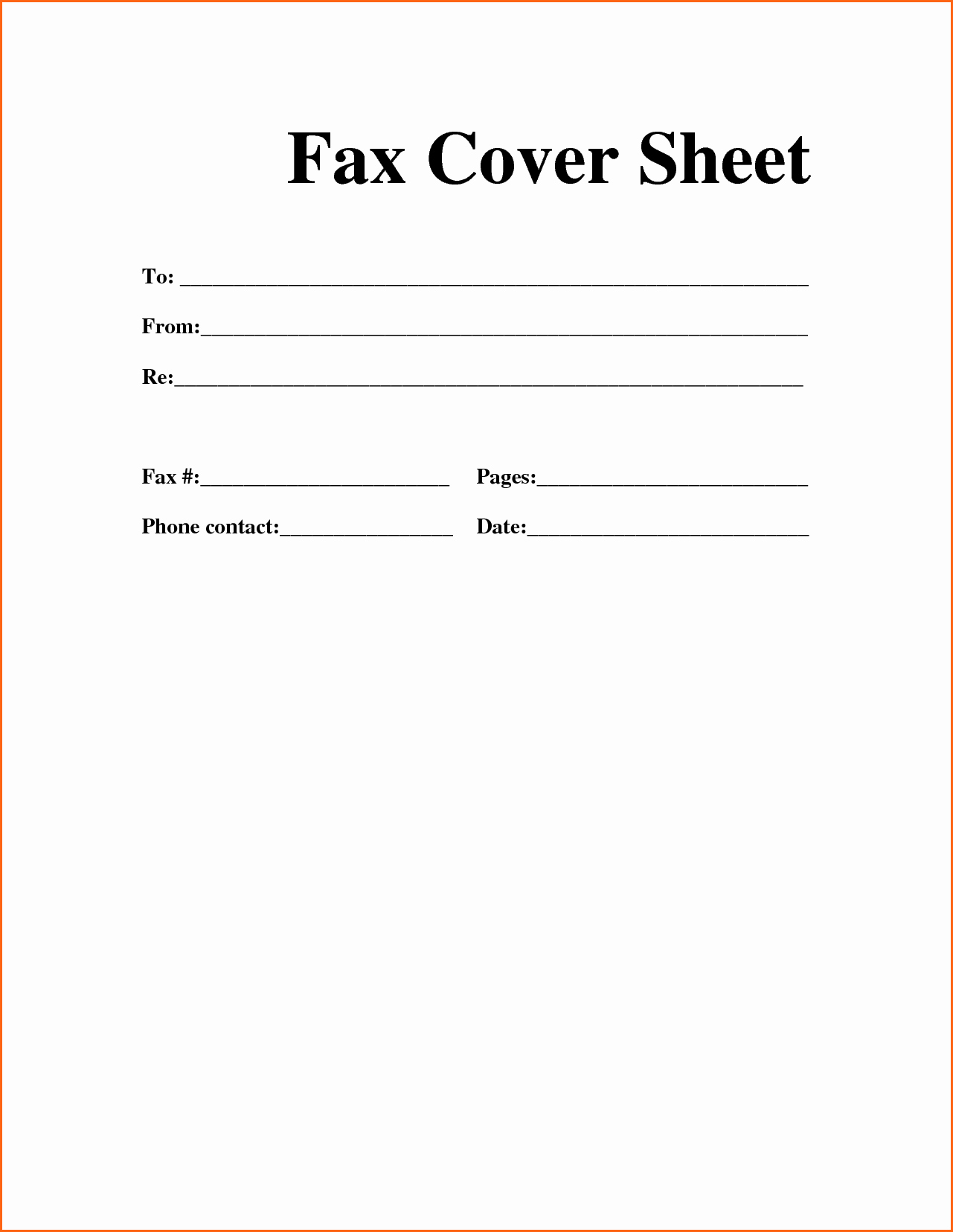 Fax Cover Sheet Printable Free Lovely Printable Fax Cover Sheet Free Fax Cover Sheet Template