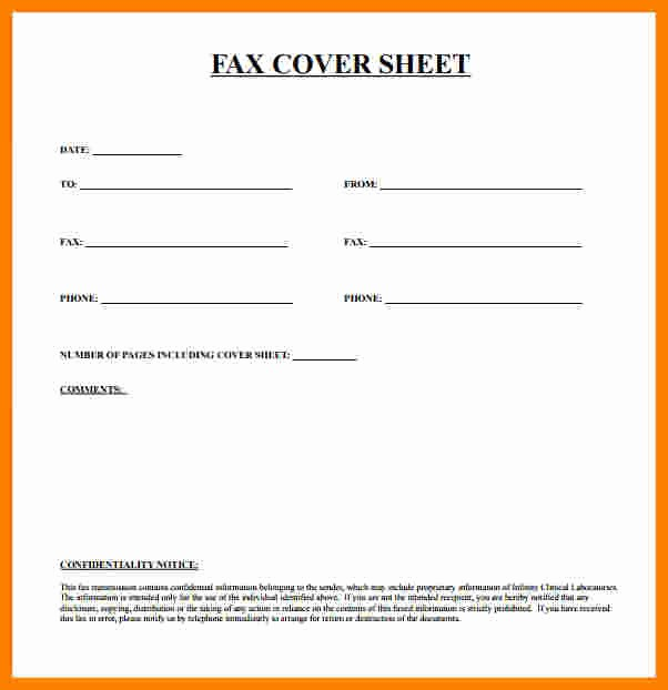 Fax Cover Sheet Printable Free New 8 Free Fax Cover Sheet Printable Pdf