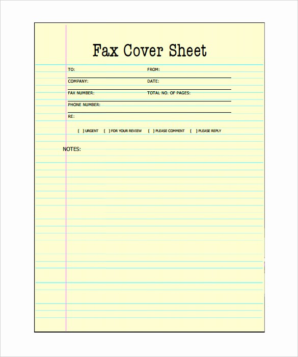 Fax Cover Sheet Printable Free New 9 Printable Fax Cover Sheets Free Word Pdf Documents