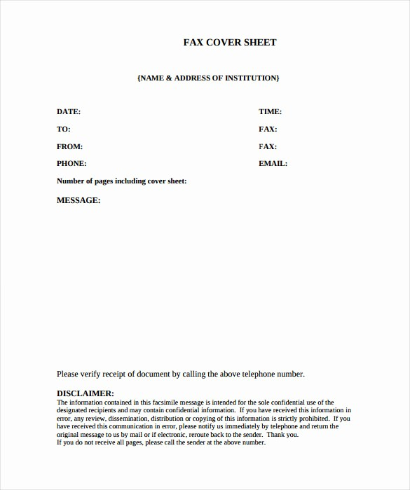 Fax Cover Sheet Sample Pdf Elegant Medical Fax Cover Sheet 9 Free Word Pdf Documents