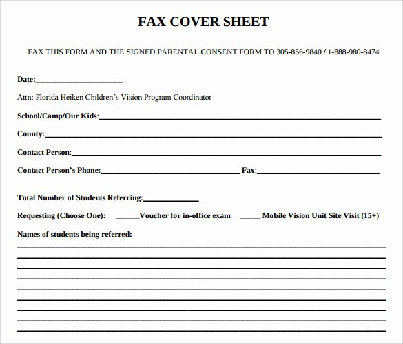 Fax Cover Sheet Sample Pdf New 9 Sample Fice Fax Cover Sheets