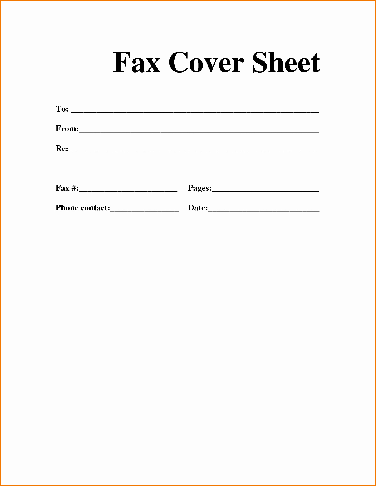 Fax Cover Sheet Sample Template Awesome 6 General Fax Cover Sheet