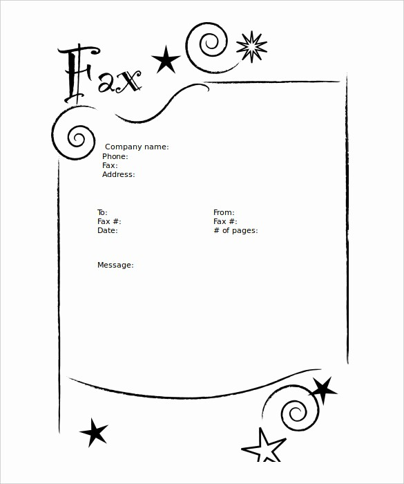 Fax Cover Sheet Sample Template Awesome 9 Blank Fax Cover Sheet Templates Free Sample Example
