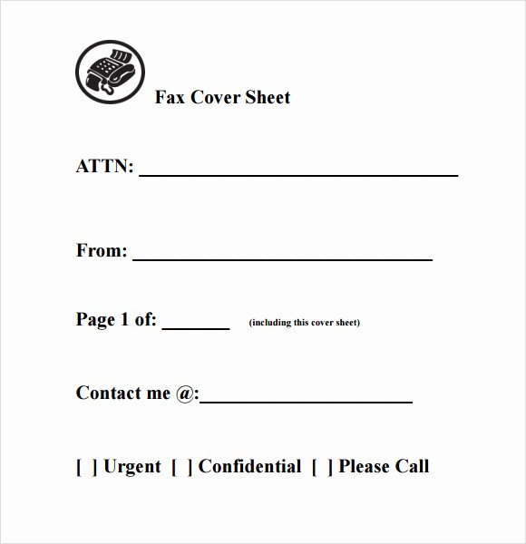 Fax Cover Sheet Sample Template Best Of Fax Cover Sheet Template Fax Cover Sheet