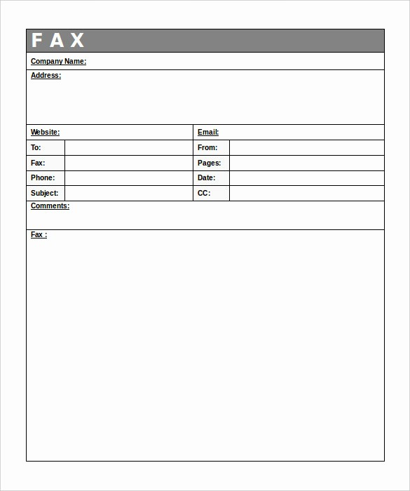 Fax Cover Sheet Sample Template Fresh 12 Free Fax Cover Sheet Templates – Free Sample Example